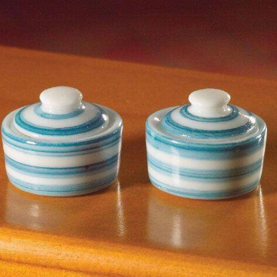 2 Cornish style lidded bowls