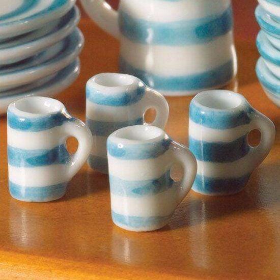 4 Cornish style mugs
