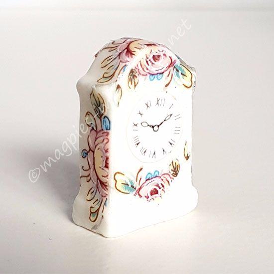 Floral mantle clock