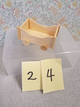 * Clearance * Wooden toy cart