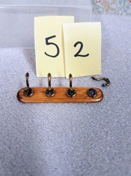 * Clearance * coat hooks on wooden board