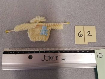 * Clearance * Knitting in progress:  Jumper with bear detail-COLOURS TO CHOOSE FROM