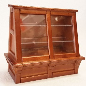 Shop Display Cabinet Walnut