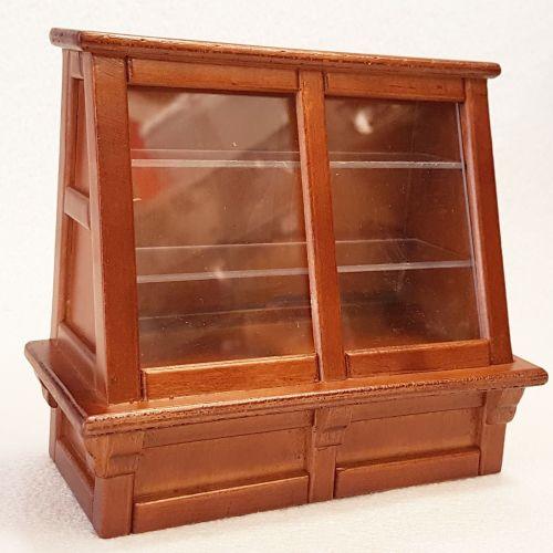 Shop Display Cabinet Walnut