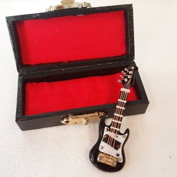 Black Electric Guitar with Case - 1:24 24th Scale