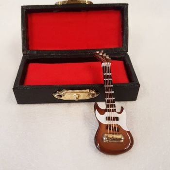 Brown Electric Guitar with Case - 1:24 24th Scale