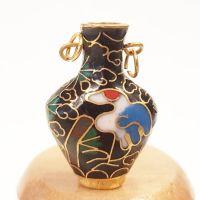 Cloisonne Vase - Black #7