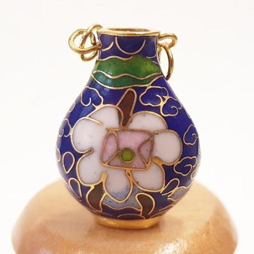 Cloisonne Vase - Dark Blue #3