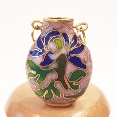 Cloisonne Vase- Pink #4
