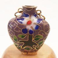 Cloisonne Vase - Beige #5