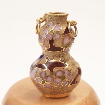 Cloisonne Vase - Tall Pink #6
