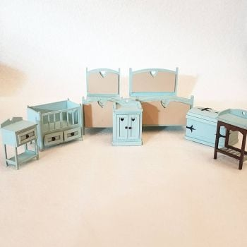 24th Scale Bedroom Set 1:24