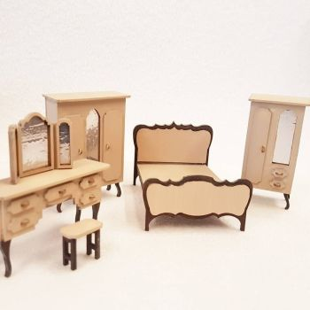 24th Scale Shabby Chic style Bedroom Set 1:24
