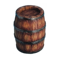Rustic 'Wooden' Barrel - Resin 7cm