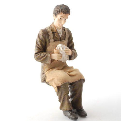 Man - Butler polishing glass.