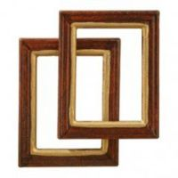 'Wooden' picture frames - pack of 2