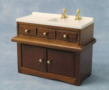 Walnut sink unit