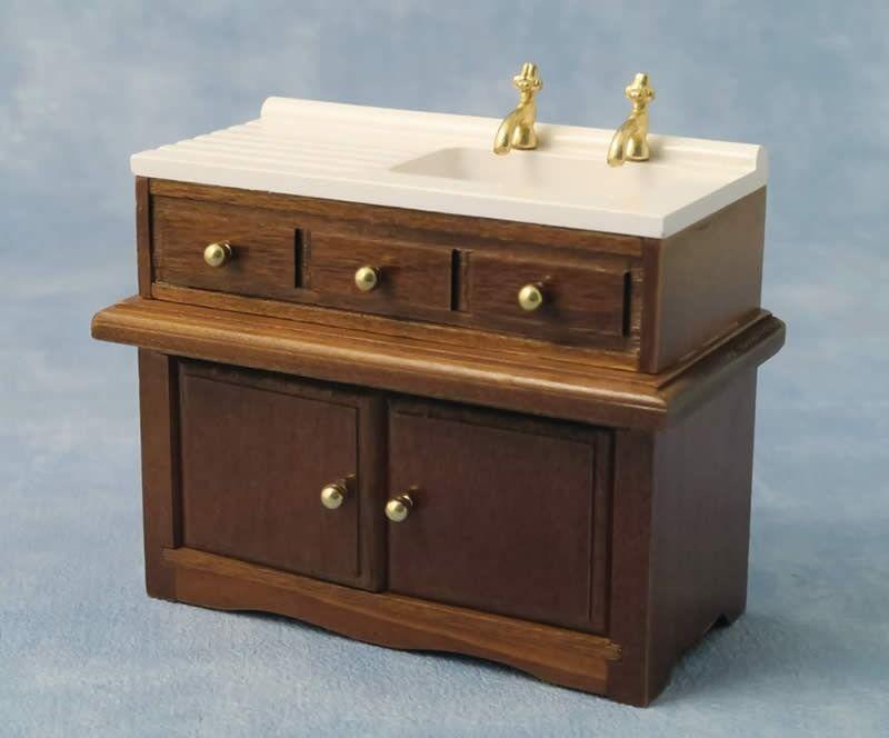 Walnut sink unit