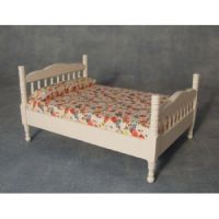 Double Bed - white painted
