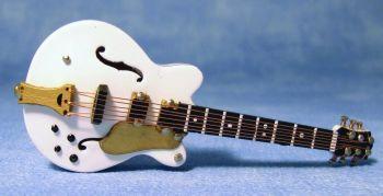 White Gibson ES Guitar