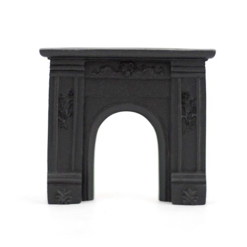 Black Fireplace - 1:24 24th Scale