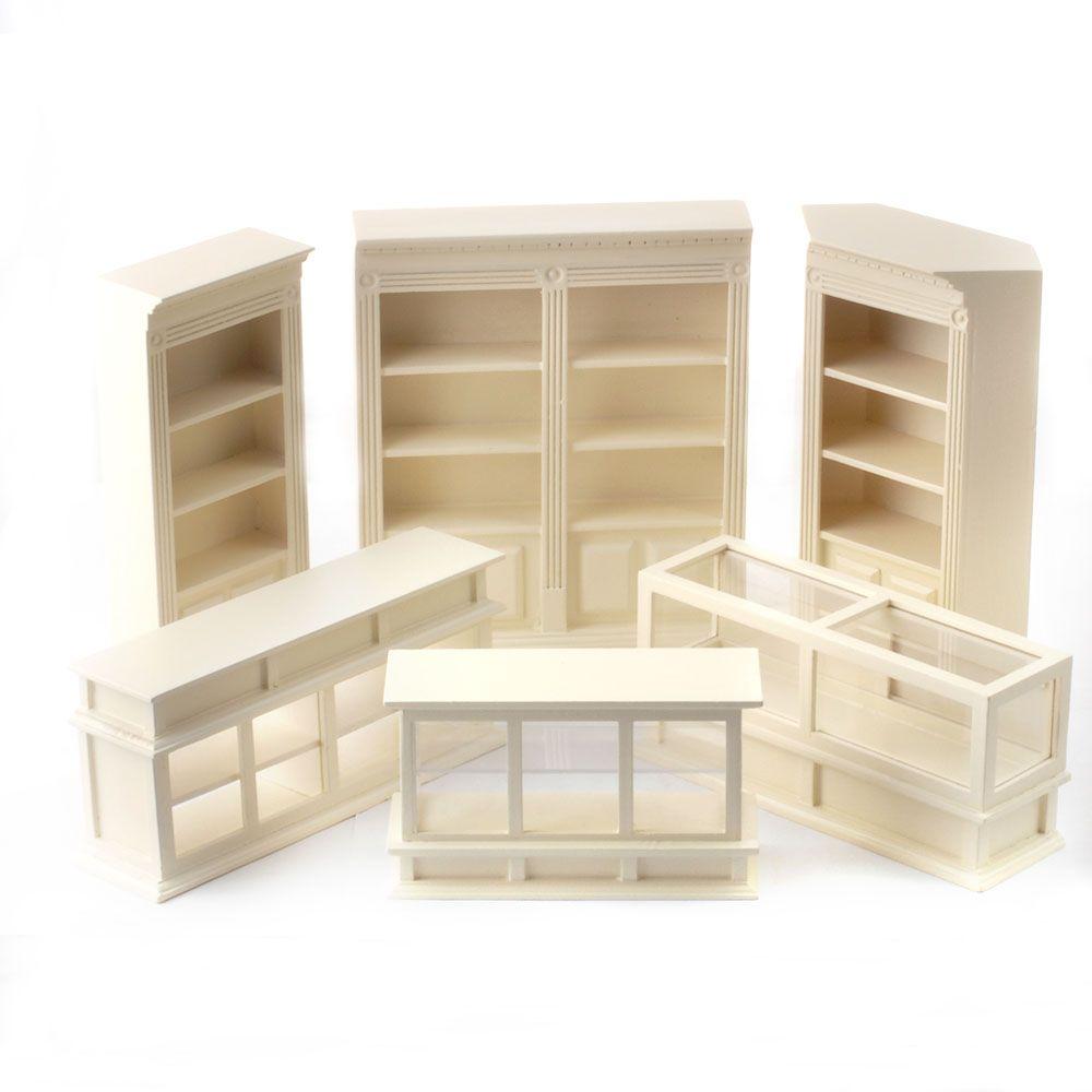 6 piece shop shelves set