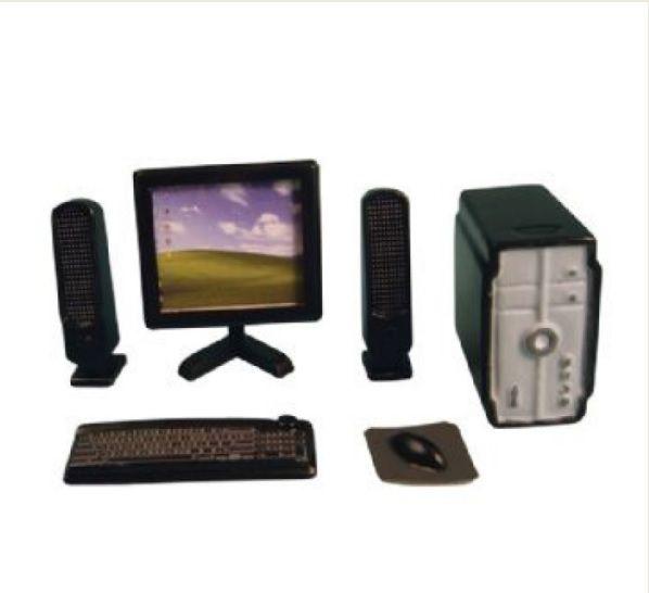 Black Coloured Desktop Computer System