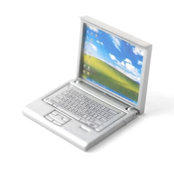 Detailed Silver Coloured Laptop
