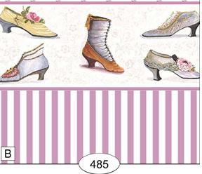 Wallpaper - Victorian Shoes - Purple