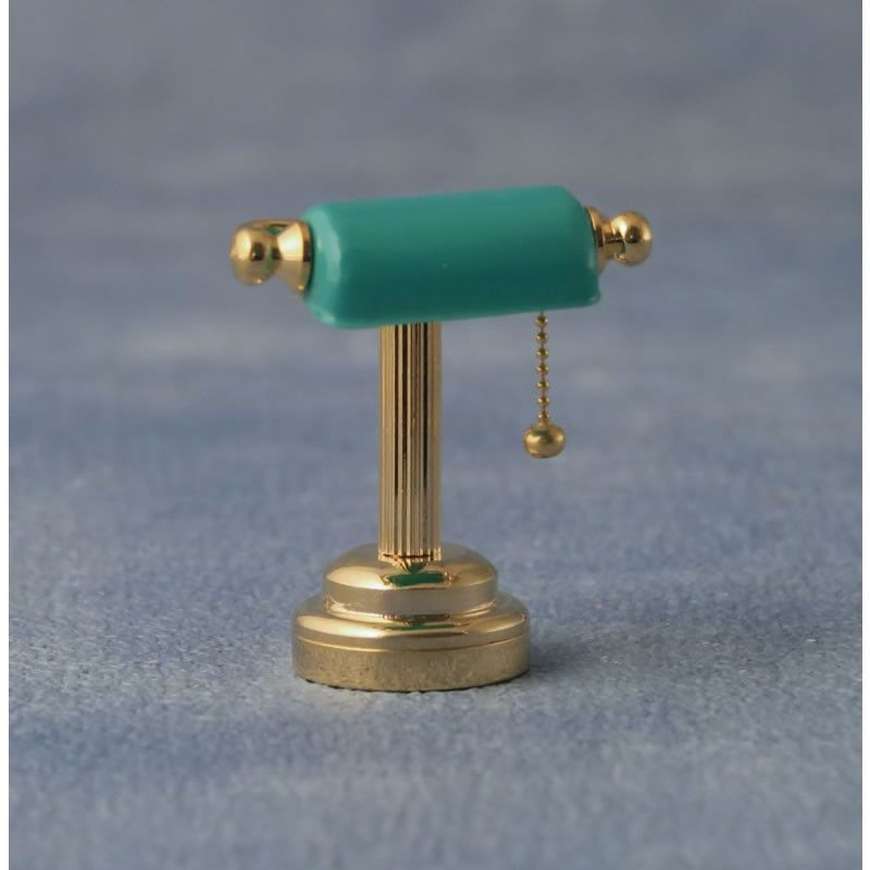 Green shade desk lamp LED light battery operated