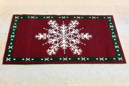 Snowflake Christmas Rug