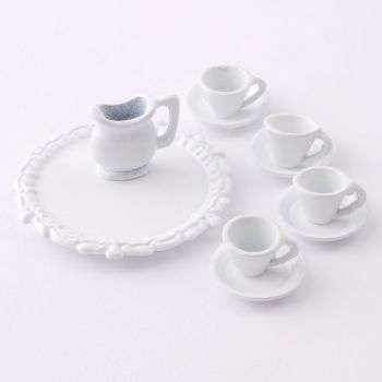 White metal Tea Set