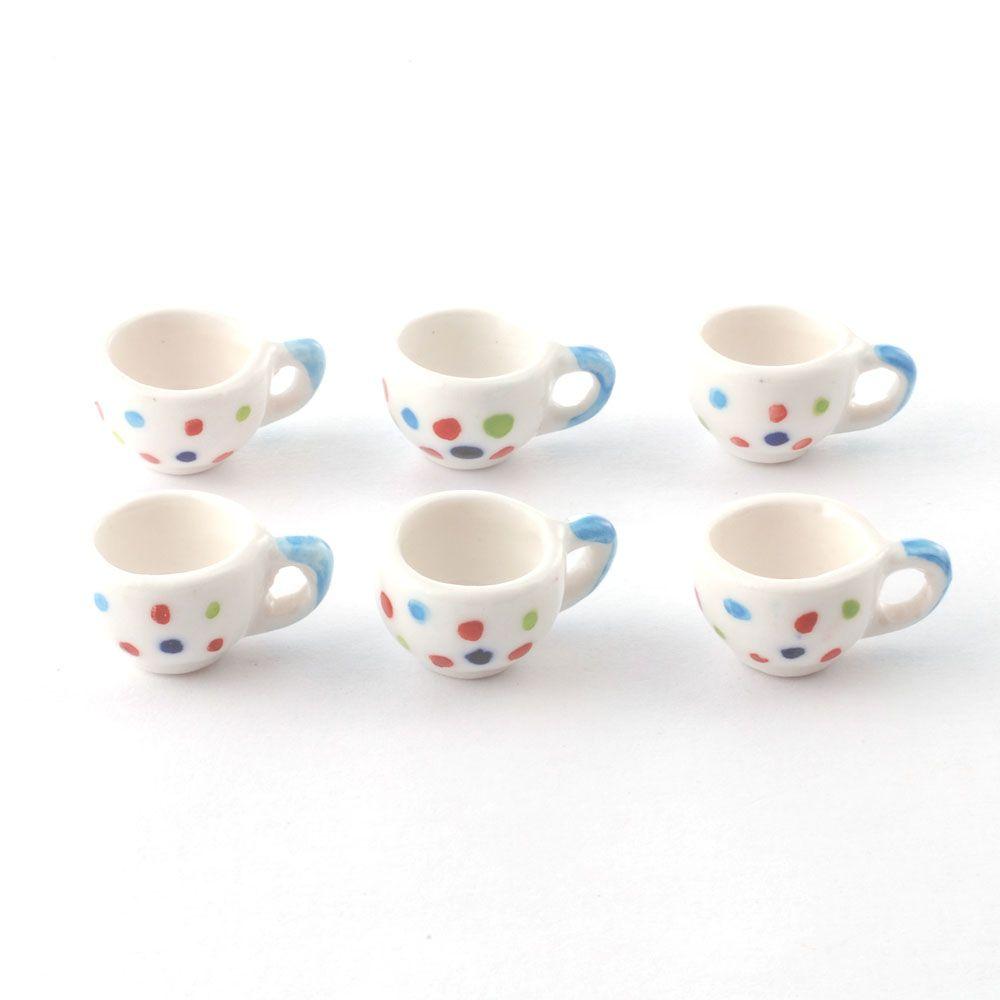 Set of 6 large mugs