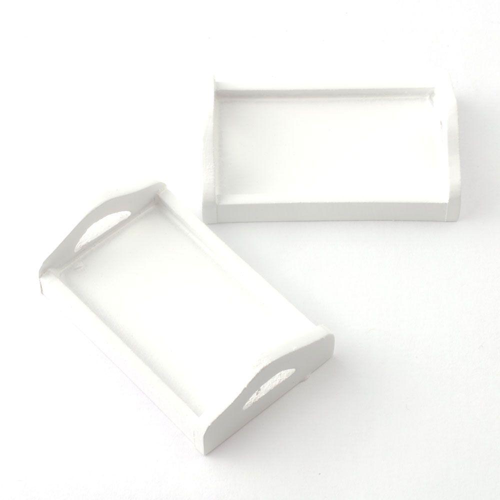 Single white tray
