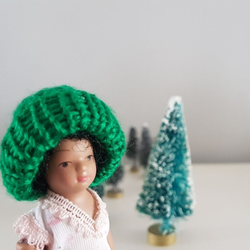 Wooly winter Hat - Green