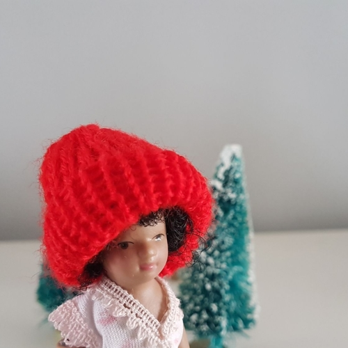 Wooly winter Hat - Red