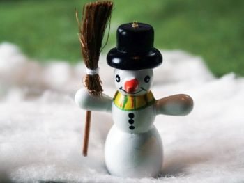 "Jolly 2"" Snowman with Broom"