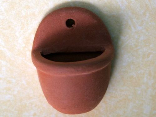 2 pack  Half Terracotta plant pots