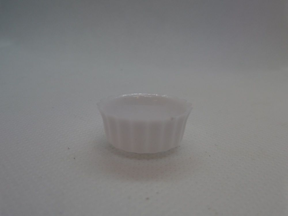 White Fluted Dish