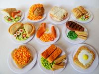 10 X Mixed Food Lunch Plates