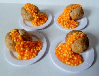 4 x Jacket Potatoes with Beans