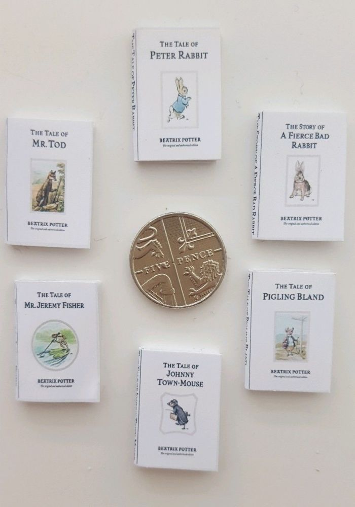 6 x BEATRIX POTTER BOOKS including Peter Rabbit