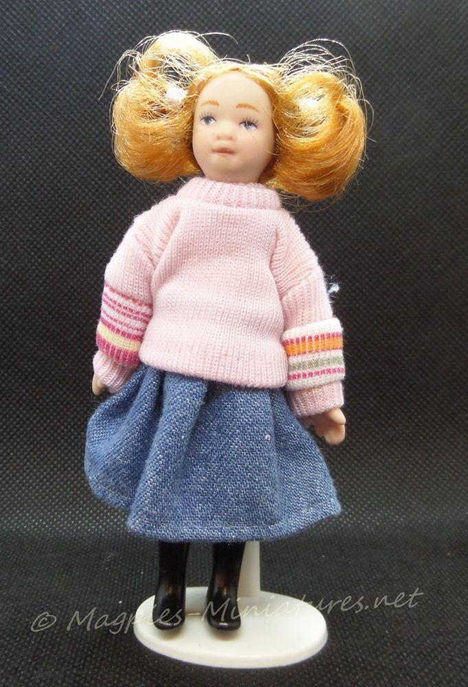 Child - Girl - Modern Girl in Pink Sweater