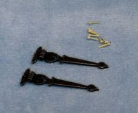 Black Antique Hinges and Pins (pk2).  3.4cm x 1cm