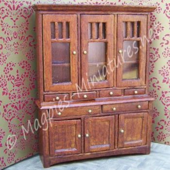 24th Scale Walnut Showcase Cabinet - High Quality