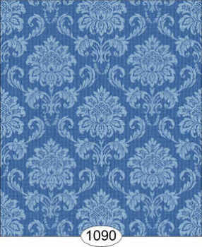Wallpaper Cottage Damask - Blue