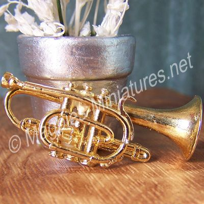 Brass finish Trumpet