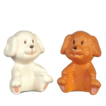 Coloured Toy Dog 1pc - colours vary