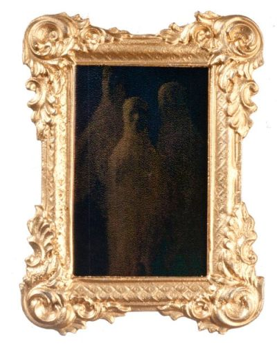 Spooky Ghost Mirror - Gold Frame