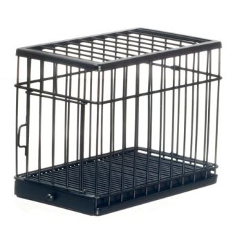 Dog Cage - Large - Satin Black